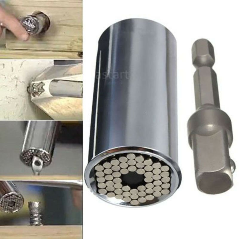 2-pcs-set-new-magic-spanner-grip-multi-function-universal-ratchet-socket-7-19mm-power-drill-adapter-car-hand-tools-repair-kit