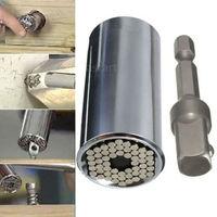 2 Pcs/Set New Magic Spanner Grip Multi Function Universal Ratchet Socket 7-19mm Power Drill Adapter Car Hand Tools Repair Kit