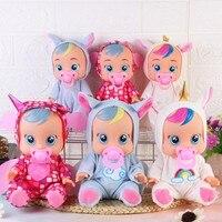 3D Cry Babies Dolls, luls, единорог, детские игрушки для мальчиков и девочек, детская кукла, она прольет слезы, подарок на день рождения для детей