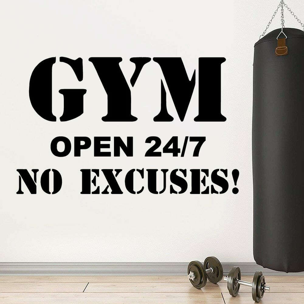 Phrase Wall Decal Fitness Room Decor