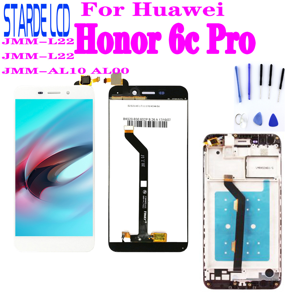 For <font><b>Huawei</b></font> <font><b>Honor</b></font> <font><b>6c</b></font> <font><b>Pro</b></font> JMM-L22 JMM-L22 JMM-AL10 AL00 <font><b>LCD</b></font> Display <font><b>Touch</b></font> Screen Digitizer Assembly For <font><b>Honor</b></font> <font><b>6c</b></font> <font><b>Pro</b></font> LC image