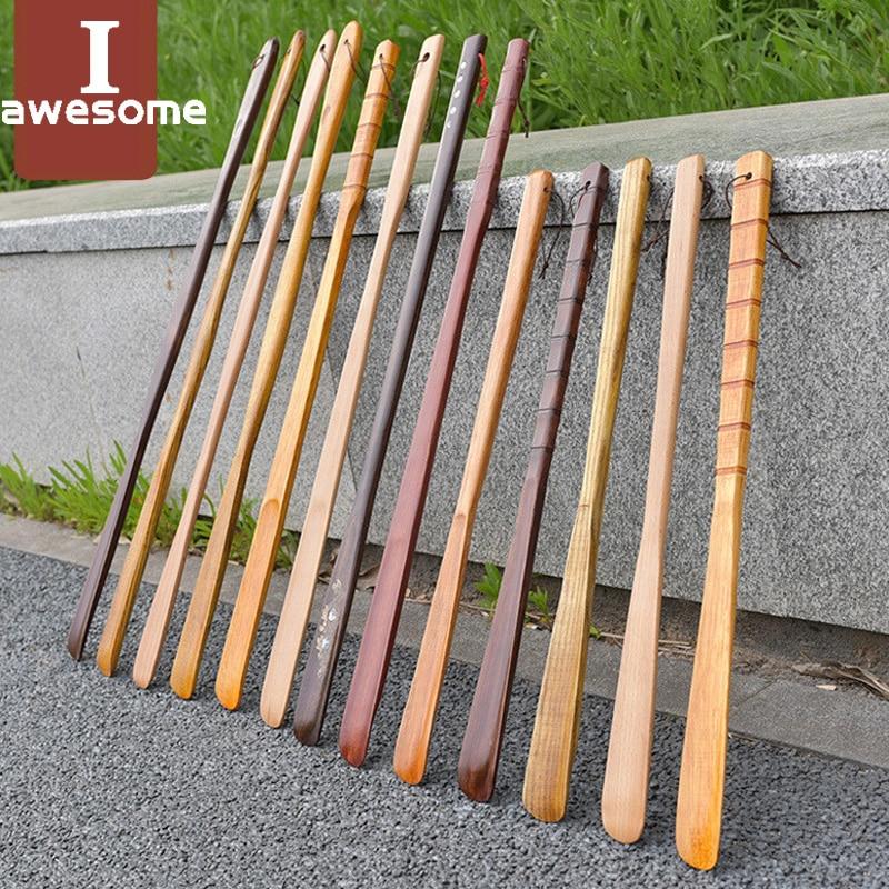 1 Pcs Durable Professional Wooden Shoe Horn Flexible Long Handle Shoehorn Useful Shoe Lifter Professional Shoe Spoon Home Tools