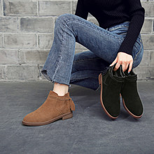 Autumn Women Ankle Boots Genuine Leather Ladies Vintage Zipper Fringe Female Shoes Non-Slip Casual Women Footwear Short Boots цена 2017