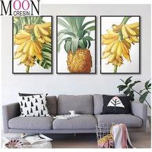 Алмазная живопись банан ананас вышивка полная квадратная/Круглая