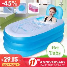 Banheira dobrável portátil para o banho inflável do bebê desfrutar vida banheira bomba de ar quente inverno manter quente dobrável