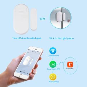 Image 5 - Towode 1/3/5Pcs Wifi Deur Sensor Tuya App Control Deur Beveiliging Magnetische Wireless Window Opening Sensor compatibel Met Alexa