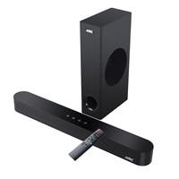 Barra de sonido para cine en casa, sistema de sonido para TV, altavoz con Bluetooth, Subwoofer, soporte óptico AUX Coaxial RCA USB, 120W, 2,1