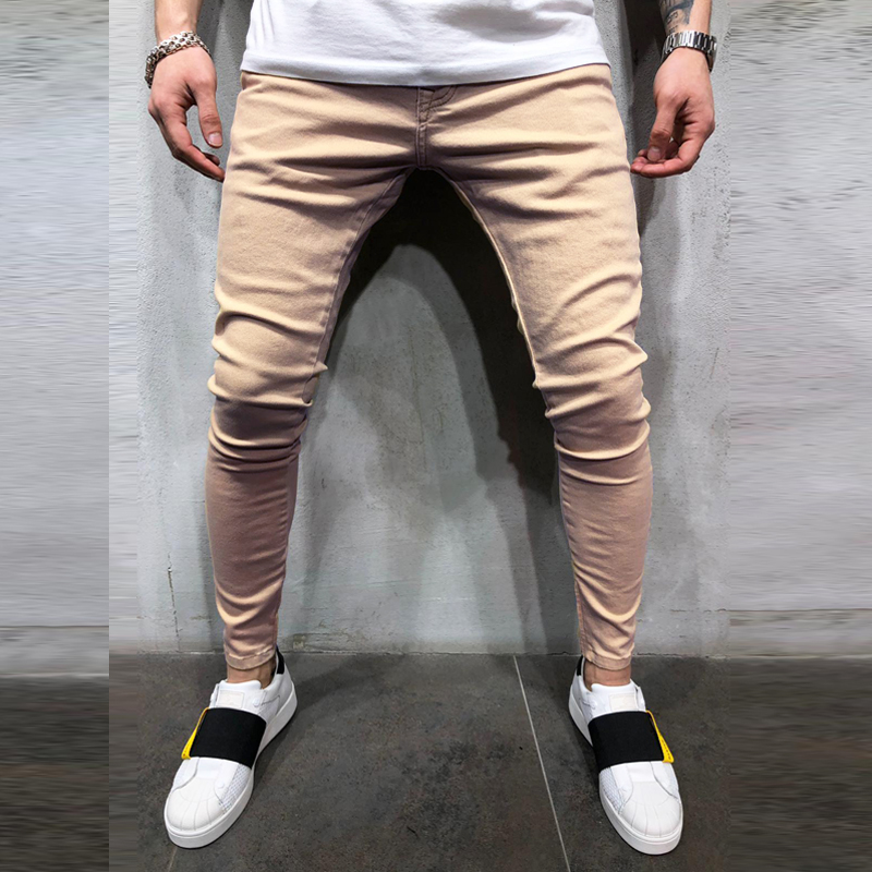 Fit Jeans Men's Denim Pants Brand New Style Trousers Jack Jones Menswear Men's Stretch Loose Plaid Casual Button Fly Straight