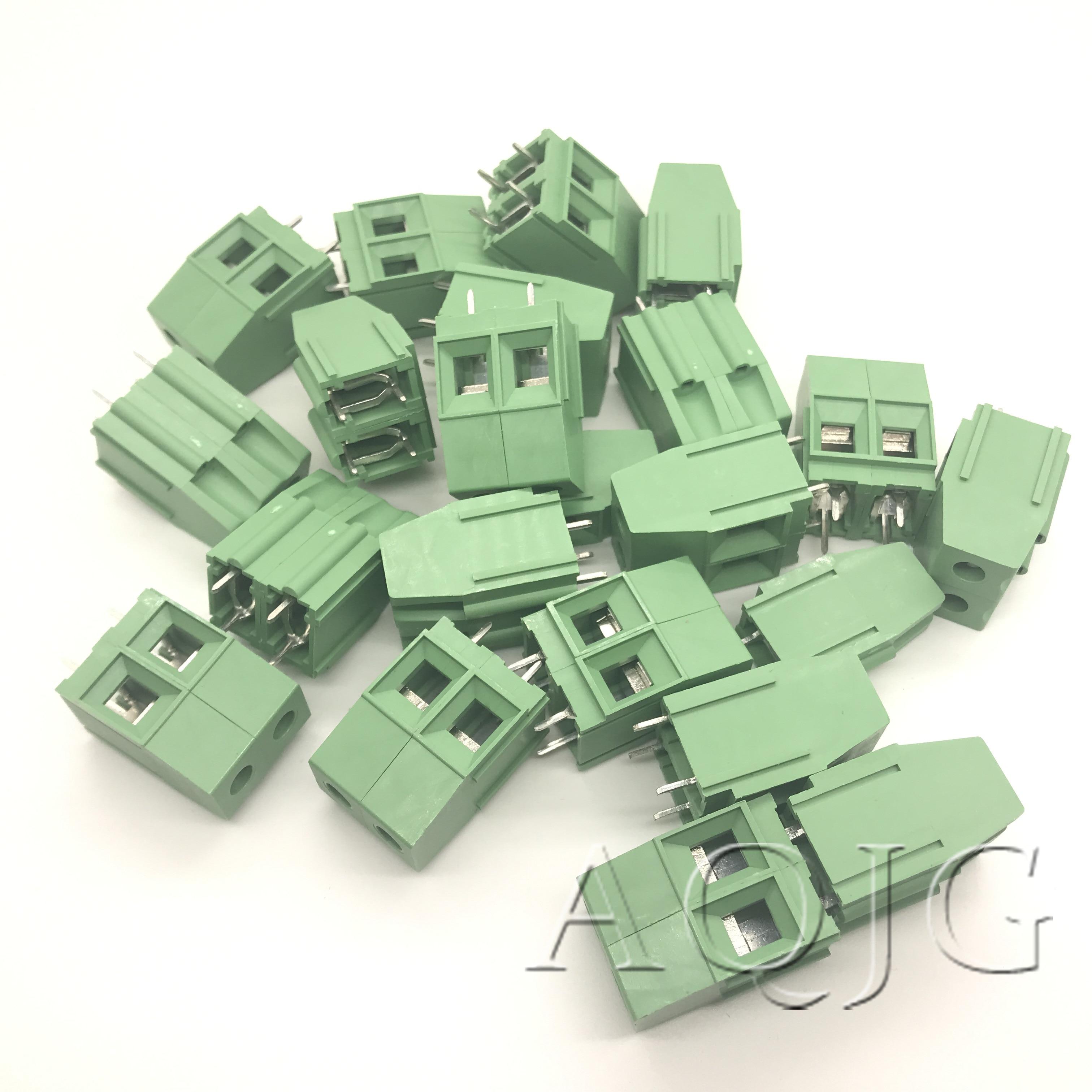 100 pcs lote 2 kf129 3pin 7 62 milimetros afastamento terminal conectores pcb terminal pin 3p