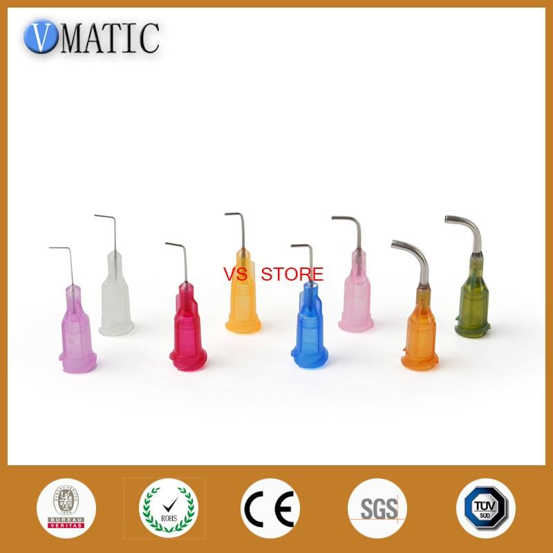 Free Shipping Te Bent Adhesive Dispensing Needle 90 Degree Bent Tip Glue Dispenser Needle 1/2 Inch