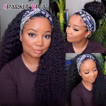Peluca de cabello humano rizado brasileño para mujeres negras, peluca completa hecha...