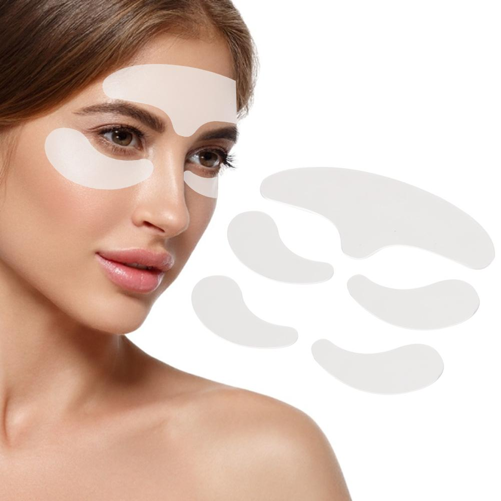 5pcs/set Silicone Anti-wrinkle Patches Reusable Forehead Sticker Eye Sticker Facial Wrinkle Remover Strips Wrinkle Remove Tools