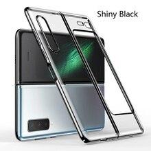 Coque de téléphone Samsung Galaxy W2020, étui de placage de luxe pliable, housse arrière rigide transparente, tout compris
