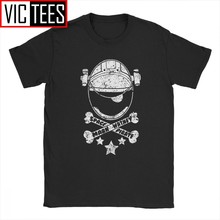 The Martian Space Pirate Skull Men's Tshirt Harlock Captain Manga Anime Tshirt Pure Cotton Wholesale(China)