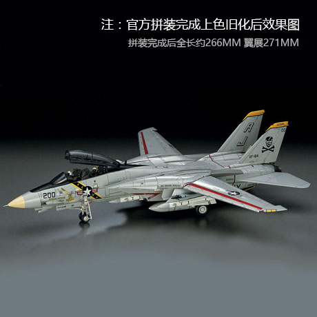 Assembly 1/72 Aircraft 00544 US Modern F14A Panda Fighter Model Toys image