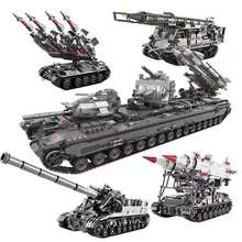 In Stock 06001 1389Pcs Creative MOC Military Series The T92 Tank Set Children Education Building Blocks Bricks Toys Model Gift in stock lepin 22001 pirates series the imperial flagship model building blocks set pirate ship toys for children 10210