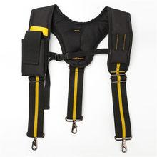 Tirantes negros para hombre herramienta para colgar bolsa, correa de peso, herramienta de trabajo pesado, tirantes
