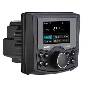 Waterproof Bluetooth Marine Digital Media Stereo Receiver with Audio/Video player DAB+ AM FM Streaming Music Boat UTV ATV Spa
