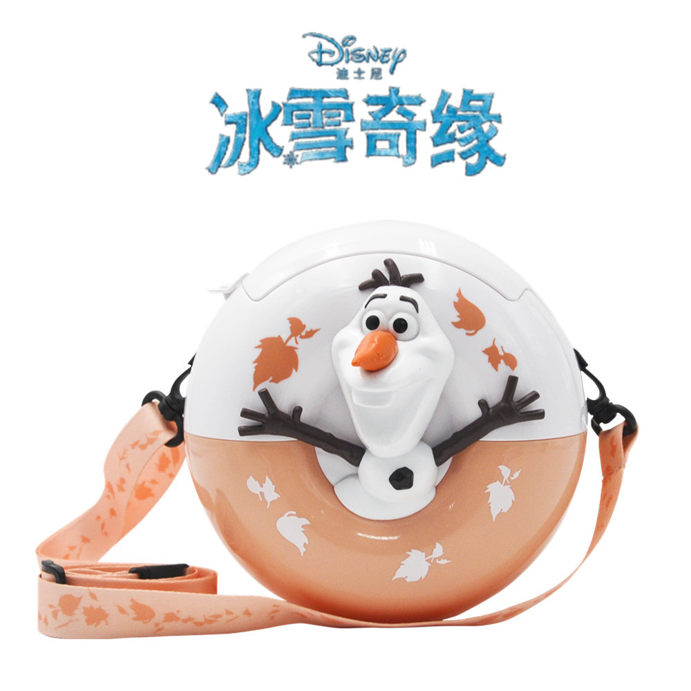 Genuine Disney Frozen 2 Related Products Olaf Donuts Modeling Suspender Strap Popcorn Bucket Backpack Shoulder Bag