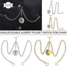 Chain Collares Golden/silver Pocket for Men Women Watch-Holder Alloy Retro Vintage Single/double-Albert