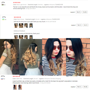 Image 5 - FAVE Long Wavy Wig Ombre Black Brown Blonde Gray Red Synthetic Hair Heat Resistant Fiber For Black Women Daily /Cosplay/Party