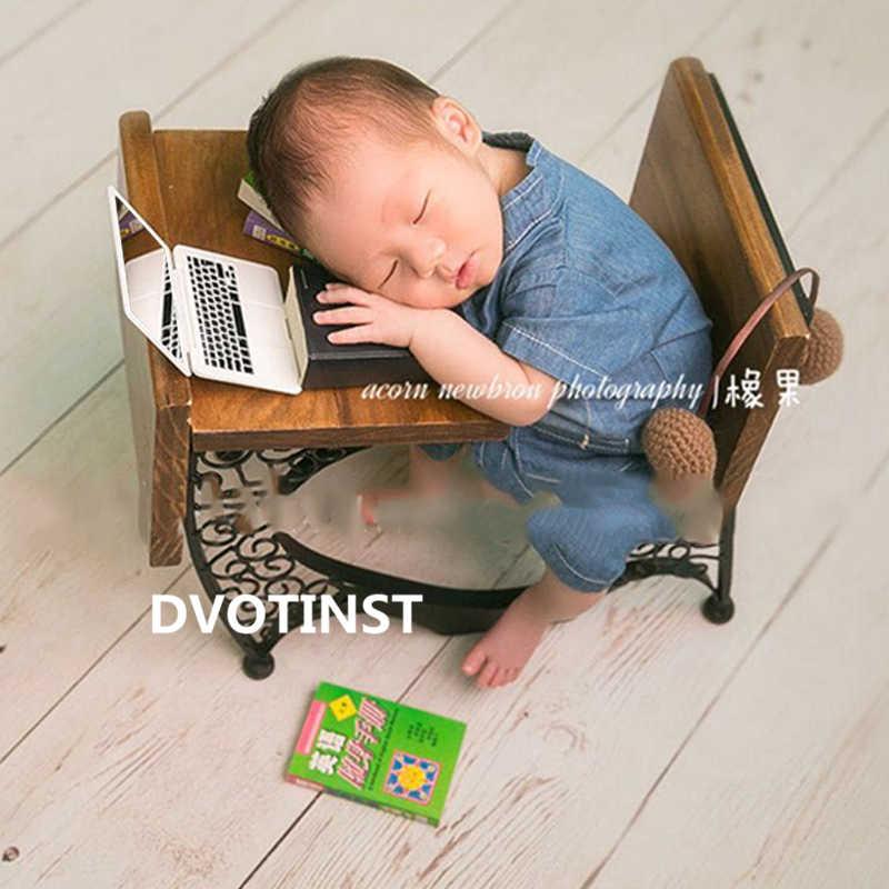 Dvotinst Neonato Fotografia Puntelli per il Bambino Mini Computer Portatile Del Computer Specchio Puntelli Puntelli Bebe Studio Germogli Photo Prop Accessori