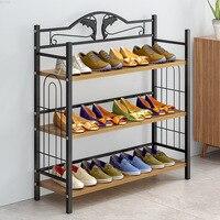 Simple Minimalist Modern Shoe Rack 3 tier Household Storage Shoe Cabinet Iron Shoe Shelf Wholesale Home Storage Furniture