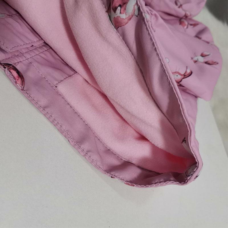 forro de lã, blusão com impressão de coelho bonito