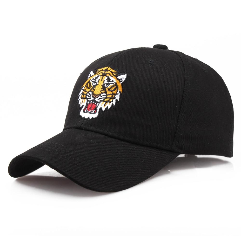 New High Quality Mens Brand Cap Tiger Head Embroidery Cap Black Bone Baseball Cap Fashion Casual Hat Tide Snapback Hats