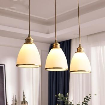 Modern Simple Metal Copper Led Pendant Lamp Lighting Nordic Loft Restaurant Decor Pendant Lights Living Room Bedroom Luminarie