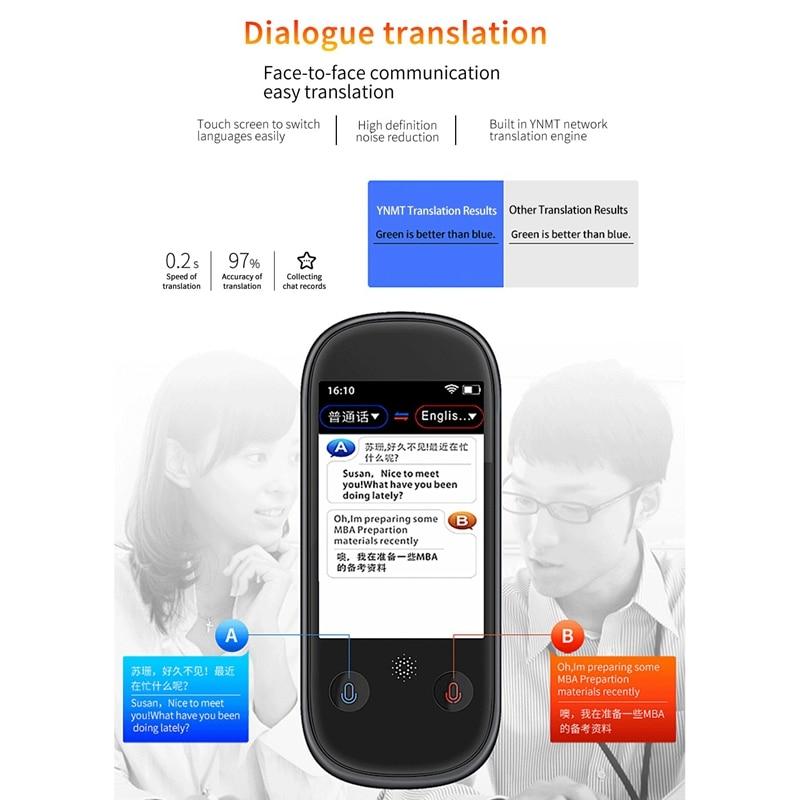 AAAE Top K1 Pro Photo Translation AI Smart Voice 75 языков в режиме реального времени лицом к лицу wifi 2,4 дюймов TFT 12MP Многофункциональный трансмиссия - 5