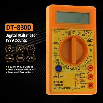 DT-830D Mini kieszonkowy multimetr cyfrowy 1999 zlicza AC DC Volt Amp Ohm dioda hFE Tester ciągłości amperomierz woltomierz omomierz tanie i dobre opinie CN (pochodzenie)