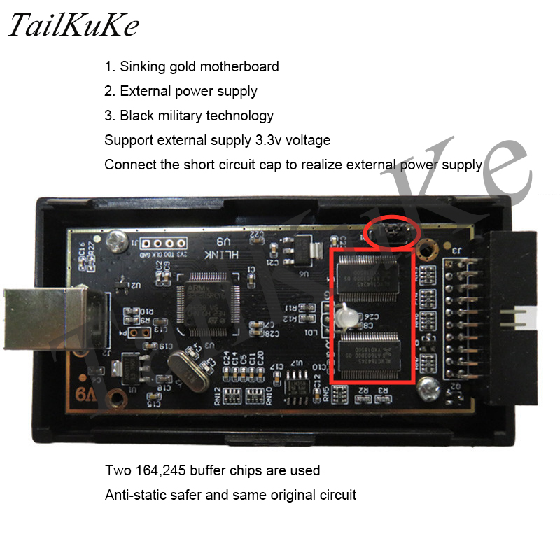 JLINK V9 Simulator Downloader STM32 ARM MCU Development Board Burns V8 Debugging Programmer