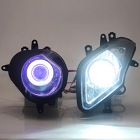 Motorcycle HID Xenon Projector Conversion Headlight LED White Angel Eyes Blue Demon Eyes Headlamp For BMW S1000RR 09 14 Models