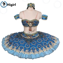 Blue split pirate ballet tutu adult ballet stage costumes nutcracker tutu blue pancake ballet tutu BT9057A