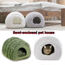 Get more info on the Dog Bed Cats Litter Kennel Pet Cats House Solid Color Simple Warm Semi-closed Pets Nests YU-Home