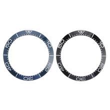 Novo 38mm preto azul cerâmica moldura inserir para 40mm submariner relógio masculino relógios substituir acessórios relógio rosto para seiko omega