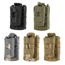Molle Open Top Single Rifle Pistol Mag Pouch Double Layer Magazine Holster Holder Tactical Gun