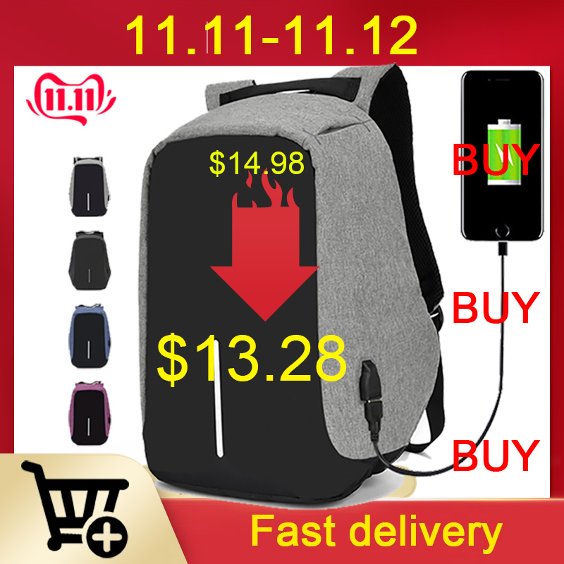 15.6 Inch Laptop Backpack USB Charging Anti Theft Backpack Men Travel Backpack Waterproof School Bag Male Mochila Rucksack