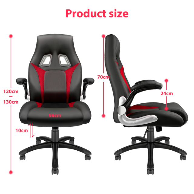 Furgle Racing Office Chair Ergonomic Executive Chair 360° Rotatable with Adjustable Headrest Gaming Chair in Office Furniture 2