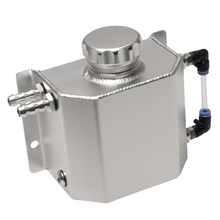 Universal 1L Aluminium Alloy Water Coolant Header Overflow Expansion Tank Reservoir(Polished)
