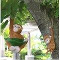 Accesorios de animales de simulación de jardinería al aire libre, adornos de mono de resina, muebles de Villa Park, decoración de estatuillas de patio
