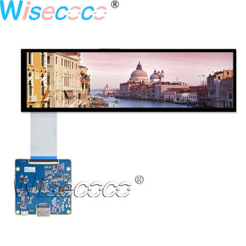 Wisecoco 8.8 Inch IPS LCD Panel 1920×480 40 Pin 600 Nits Hight Brightness + HDMI MIPI Control Board for Raspberry Pi