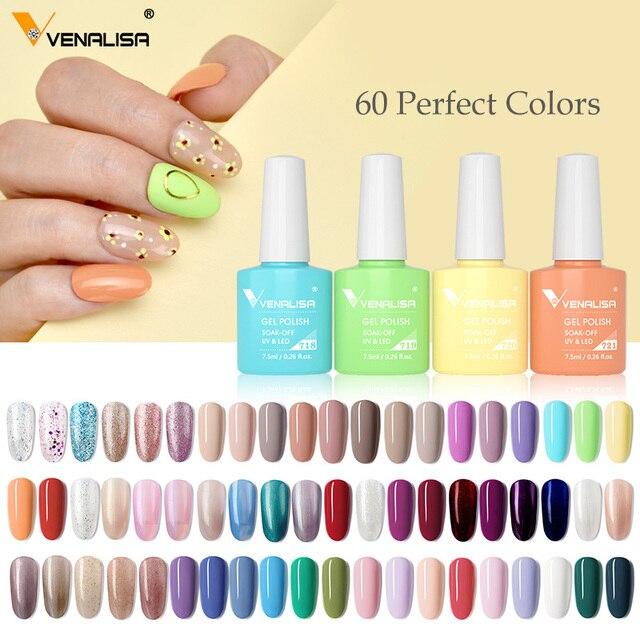 Venalisa VIP3 New Arrival Gel Nail Polish 7.5ml Upgraded High Pigmentation Glitter Gel Lacquer Nail Art Manicure Nail Gel Polish 5