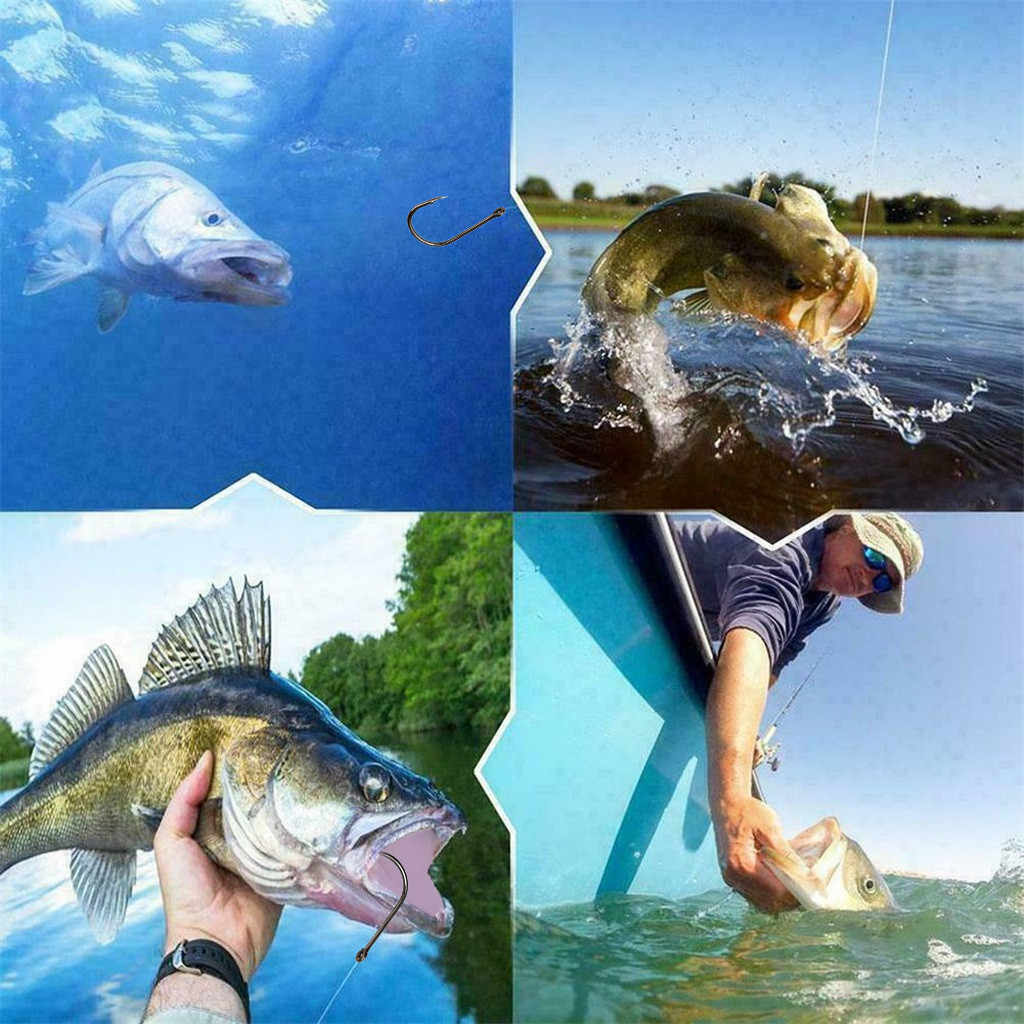 10 formati Ami Da Pesca LOTTO Wobblers Esche Da Pesca Ganci Jig Testa Ganci Spinato Scatole X-Forte Vola Legatura Gambo-Carpa Minnow Esche