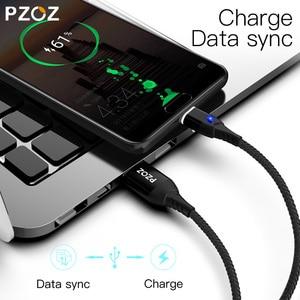Image 2 - PZOZ 5A Magnetische Kabel Micro usb Typ C Super Schnelle Lade Microusb Typ C Magnet Ladegerät usb c Für iphone 11 huawei usb kabel