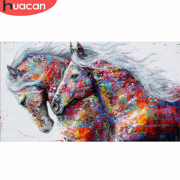 HUACAN Diamond Painting Horse Kits Handmade Needlework DIY Embroidery Animal Mosaic Rhinestone Picture