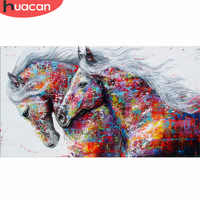 HUACAN Diamond Painting Horse Kits Handmade Needlework DIY Diamond Embroidery Animal Mosaic Rhinestone Picture