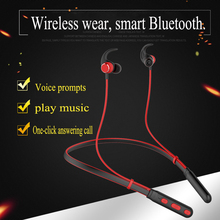 Waterproof Bluetooth 5.0 Wireless Sports Headphones Stereo Subwoofer Hanging Neck Metal Magnetic Headset