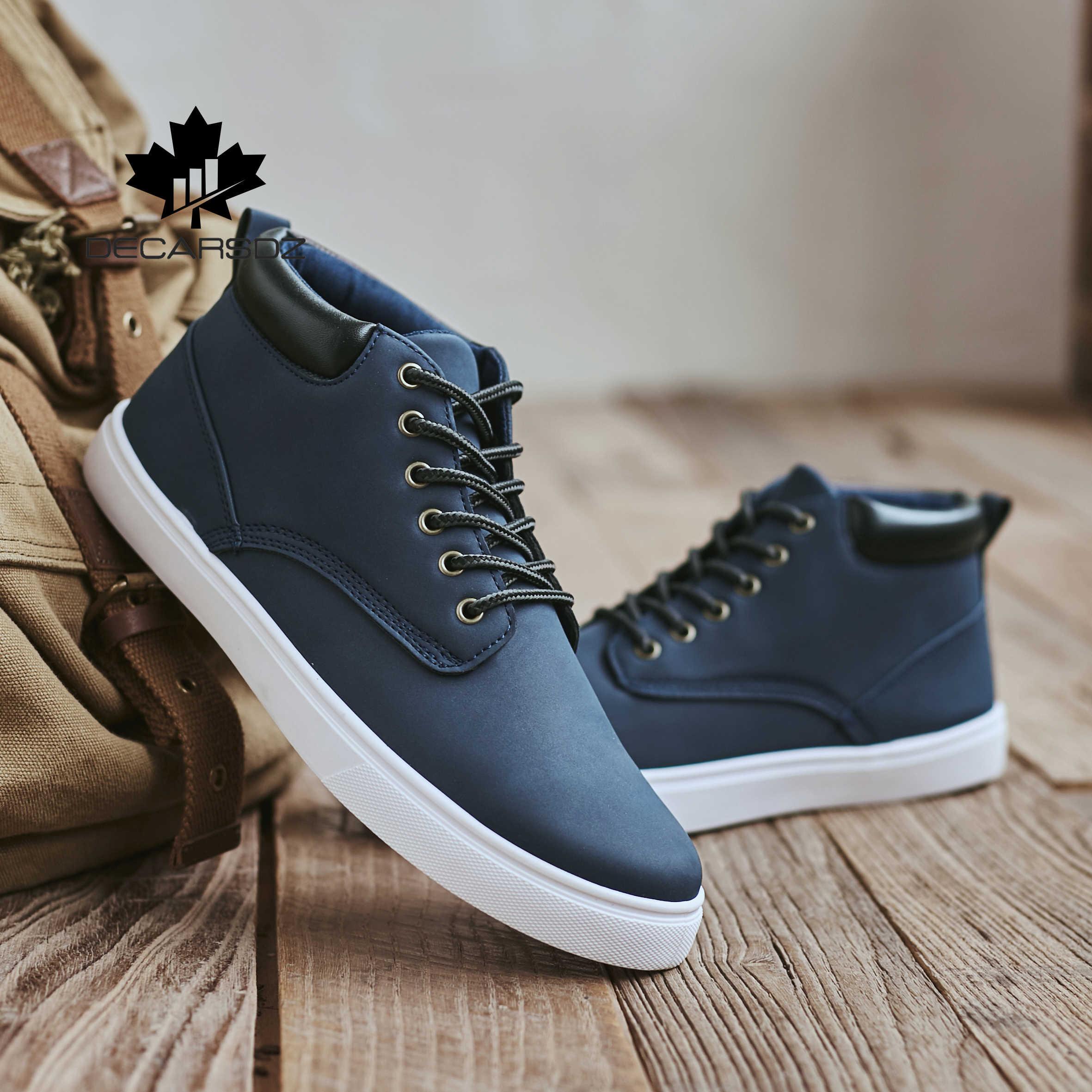 DECARSDZ 2020 yeni tasarımcılar popüler tarzı rahat ayakkabılar erkek açık rahat yürüyüş erkek ayakkabıları adam dantel-up marka gündelik erkek ayakkabısı
